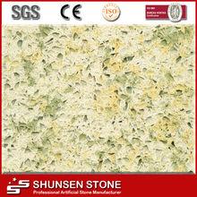 promotion sale pine nut yellow artificial quartz stone QZ202