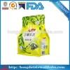Custom printed pyramid heat seal aluminum foil tea bags/Eight side heat seal tea bag