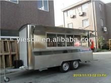 Yieson big wheels sliding windows electric mobile food cart/food trailer/food van