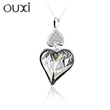 OUXI antique 925 heart pendants Made With crystal Y30107 only pendant
