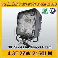 4.3inch 2160LM motorcycle headlight 24v 27w led work light