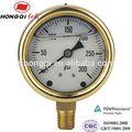 """63 mm ( 2.5 """" ) de aceite de presión 0 ~ 1 Mpa y 0 ~ 150 psi"""