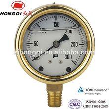 "63mm(2.5"") Oil filled pressure gauge 0~1 Mpa & 0~150 psi"