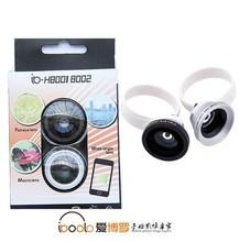 Universal clip Fisheye+ Wide angle+ Macro 3 in 1 Lens kit for camera phone lens