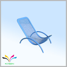 China manufacturer metal mesh blue chair type phone holder for office display