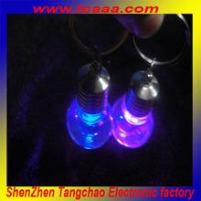 2014 new sale led flashing light up acrylic keychain