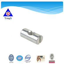 high quality slotted/slotted phillip/pozidrive barrel nut cross dowel nut
