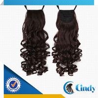 drawstring red brown indian natural ponytail hair extension for black women