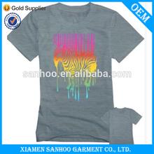 Low MOQ Cotton T Shirts Woman Customized Heat Transfer Printing Top Quality