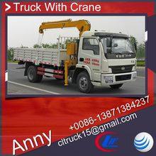 yuejin 4x2 mobile hydraulic telescopic crane for sale,swing arm crane