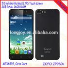 ZOPO ZP980+ MTK6592 Octa Core Phone 5 Inch ZOPO C2 Platinum Upgrade ZP980 Plus 2GB RAM Smart Mobile Android Phone 3G Black White