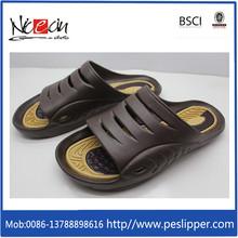 Summer Men's PVC Strap Open-toes Linen Bottom Slipper