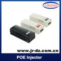 Ieee 802.3 af10 / 100 M - port PoE sortie injecteur pour caméra IP avec 15.4 W