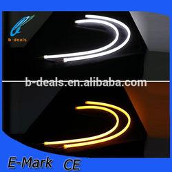 600mm Dual Ctolor LED flexible daytime running light,flexible LED DRL strip for headlight