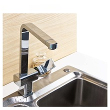 Brass body single handle kitchen faucet