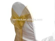 fashion organza sash for wedding and hotel decoration