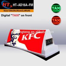 2015 Hot sale ads new taxi light box