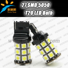 Quality warranty high brightness 3.6w12-14v 510lumen car light, T20 7440 auto led lamp bulbs 27smd 5050 with 5color available