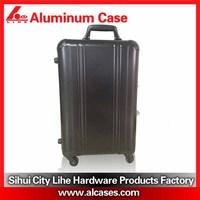 aluminum handle luggage trolley case with customer logo