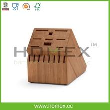 Good quality fancy kitchen knife block/knife holder/HOMEX-FSC,BSCI
