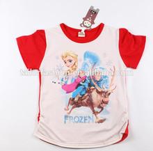 frozen anna princess beautiful girl t-shirt wholesale sweet girl t-shirt frozen