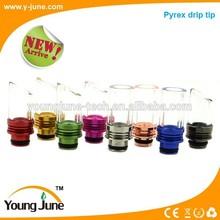 tesla vapor mod pyrex drip tip 510 thread glass drip tip pyrex drip tip factory price wholesale