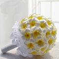 2014 hotsale de mariage bouquet, Mousse plumeria fleurs, Mousse frangipanier fleurs ( AM-WB03 )