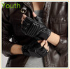New Fashion Men Leather Motorcycle Gloves Black High Quality Gloves With Good Price