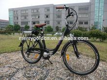 New 250W 36V black color Tektro V brake CE 26 inch lithium battery city electric bike