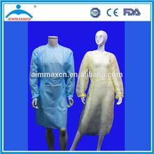 Sterile Hospital Isolation PP Gown green /yellow / light blue /dark blue /white /Dark/Pink