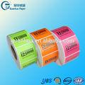 De alta calidad personalizados a4 tamaño de vinilo auto-adhesivo de etiquetas