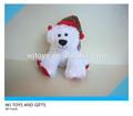 hot venda lindo urso polar de pelúcia para o natal