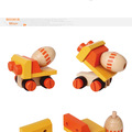 Misturador de concreto- inteligente garoto de brinquedo de madeira do carro
