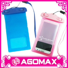 Low cost promotional PVC transparent waterproof camera case
