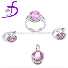 925 silver set factory wholesale fashion jewelry set zircon stone jewelry