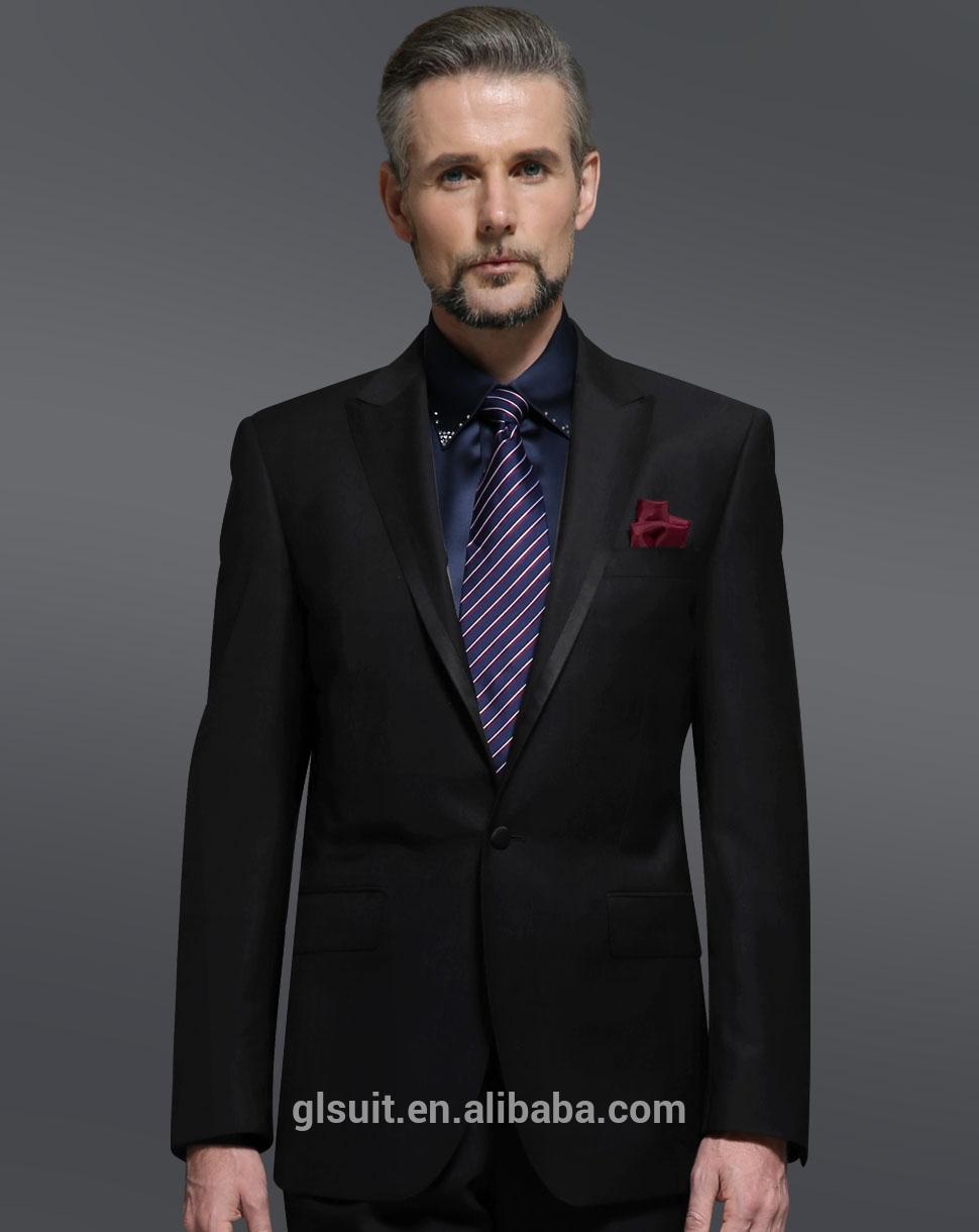 super 130 39 s 100 wool made to measure suit for men black suit slim fit. Black Bedroom Furniture Sets. Home Design Ideas