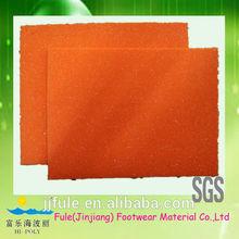 shoe insole material orange high elastic pu foam