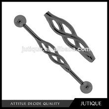 Black Tribal Celtic Knot Tie Swirl Entangled Industrial Barbell Earring body piercing jewelry