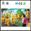 Kids outdoor mobile climbing wall /portable plastic rock climbing wall (QX-097A)