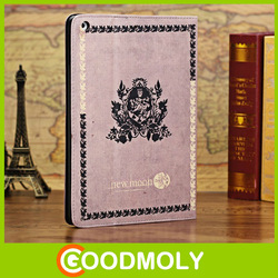 Classical books leather cover genuine leather for ipad case