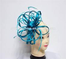 Elegant teal blue fascinator in wholesale