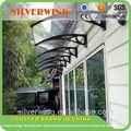 design simples e preço barato exterior de plástico transparente polycarboante porta toldos copa