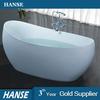 HS-B553 clear acrylic oval simple freestanding soft small bathtub