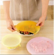 durable silicone food warp covers,preservative film, fit to microwave oven and freezer