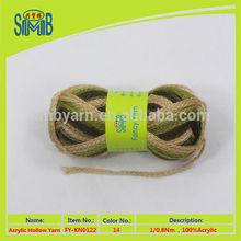 china factory best sell 100g balls acrylic fashion tube yarn