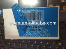 Sécurité adhésif personnalisé anti - contrefaçon barcode label seal