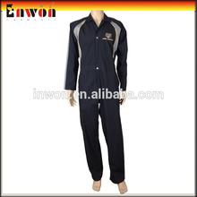 venta caliente baratos negro de trabajo sobretodo seguridad uniformes de la guardia