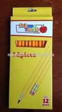"12 pcs cheap 7""HB pencil set for school writing"