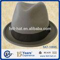 pura lã de feltro chapéu preto de lã de homens chapéu do inverno quente chapéu de feltro