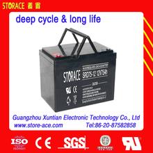 12v 75ah VRLA deep cycle battery